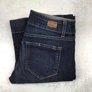 PAIGE Jem Flare Petite Jeans 27 Dark Wash 0477